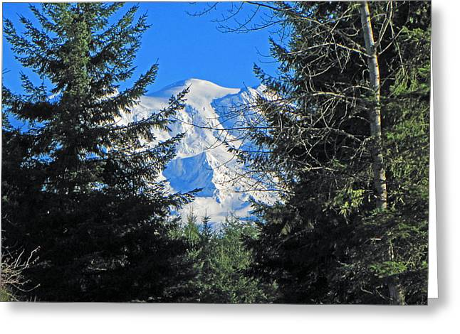 Mt. Rainier I Greeting Card by Tikvah's Hope