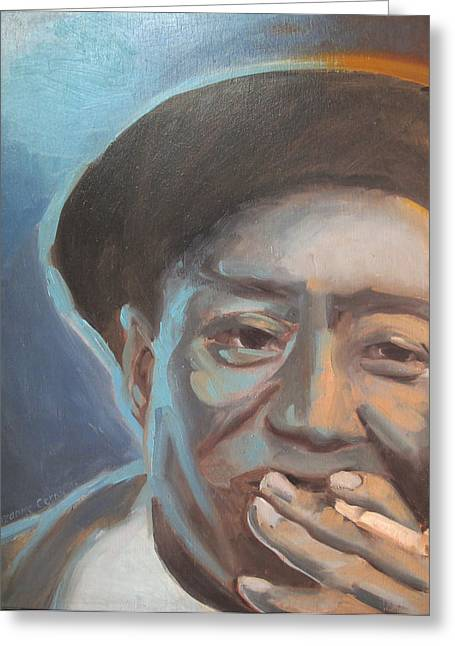Muddy Waters Blues Guitarist Greeting Card