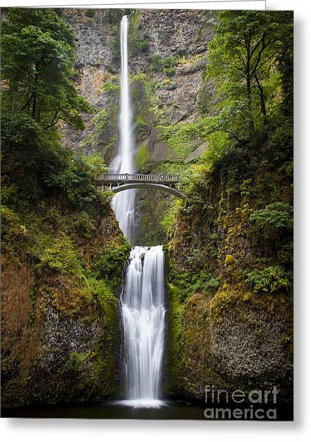 Greeting Card featuring the photograph Multnomah Falls by Brian Jannsen