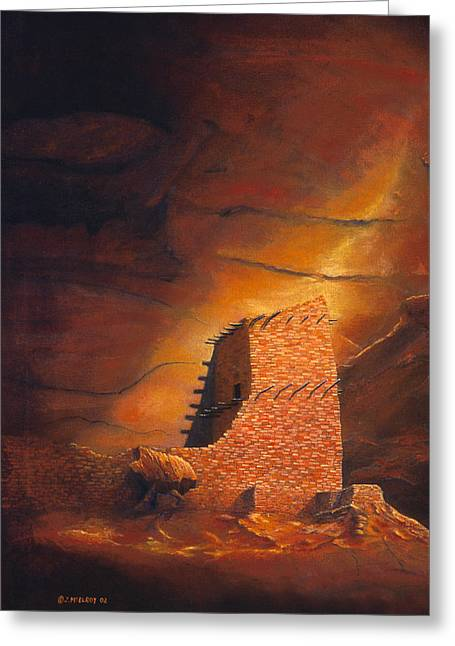 Mummy Cave Ruins Greeting Card by Jerry McElroy