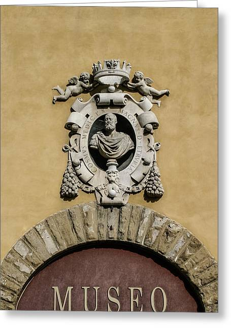Museo Di S Maria Door Greeting Card by Karen Stephenson