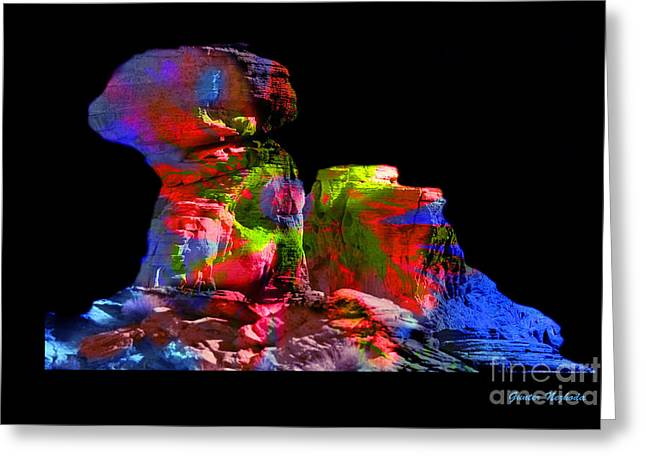 Mushroom Rock Greeting Card by Gunter Nezhoda