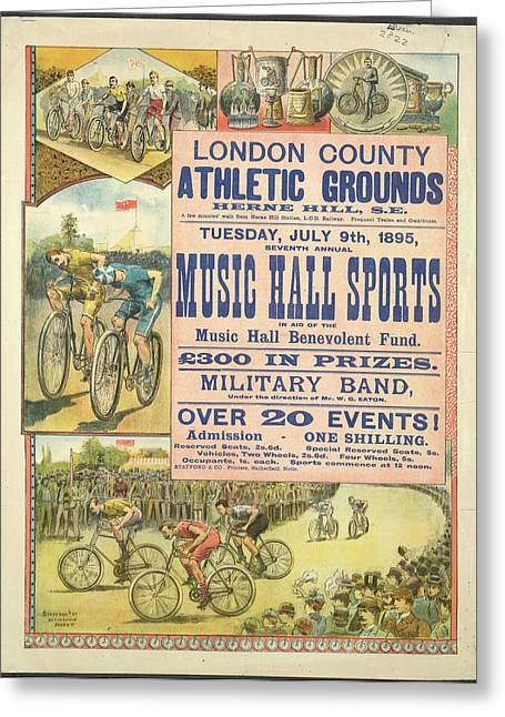Music Hall Sports Greeting Card by British Library