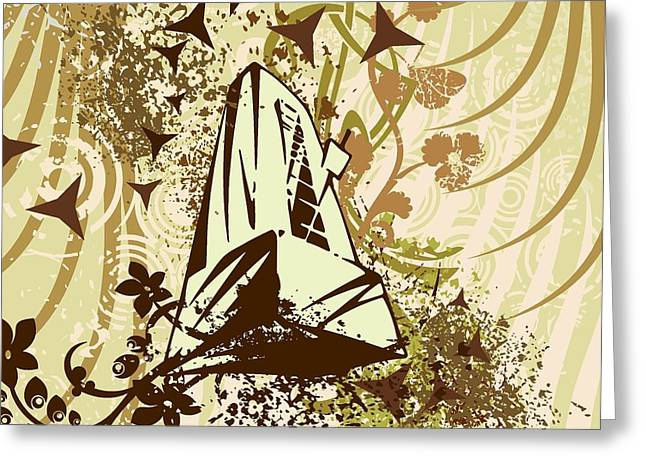 Musical Background Greeting Card by ClipartDesign