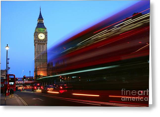 Greeting Card featuring the photograph Must Be London by Jeremy Hayden