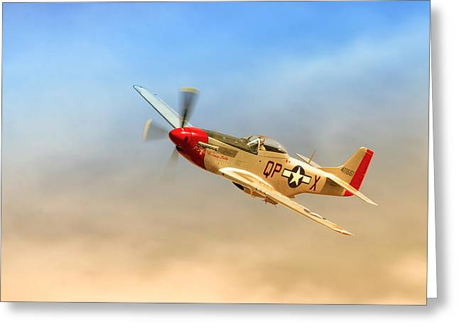 Mustang P51 Greeting Card by Johan Combrink