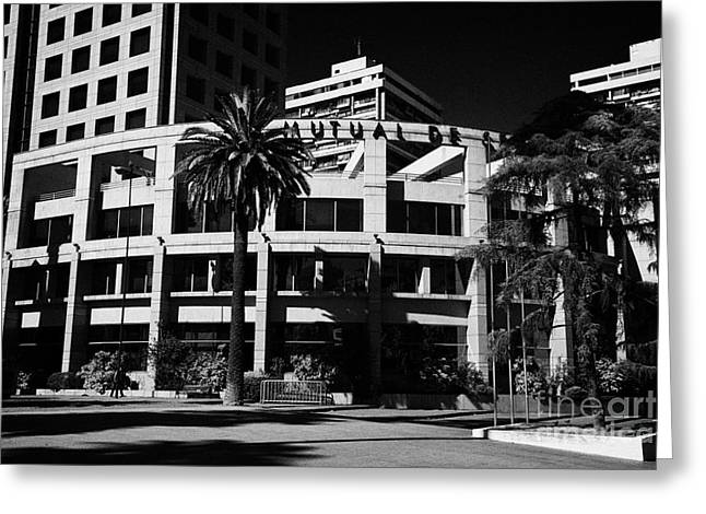 mutual de securidad building in Santiago Chile Greeting Card