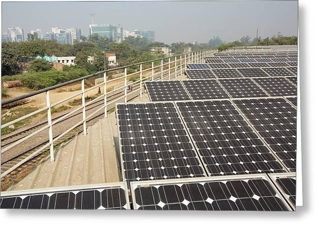 1 Mw Solar Power Station Greeting Card