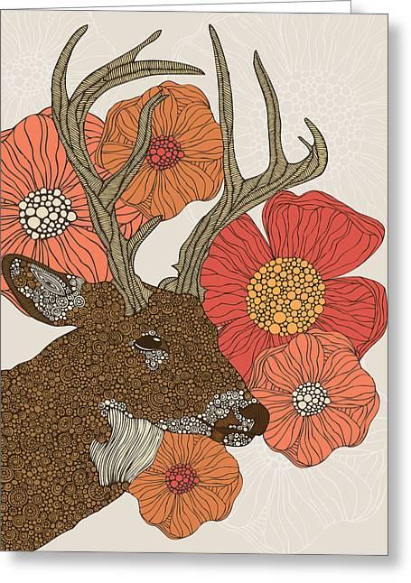 My Dear Deer Greeting Card by Valentina Ramos