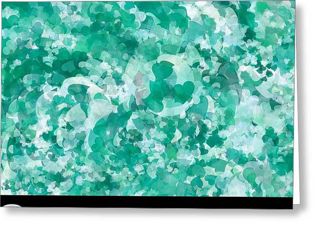 My Love Teal Greeting Card by Holley Jacobs
