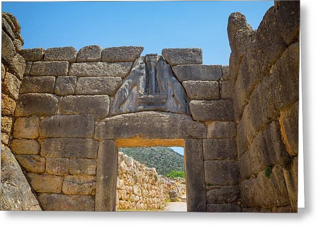 Mycenae, Argolis, Peloponnese, Greece Greeting Card