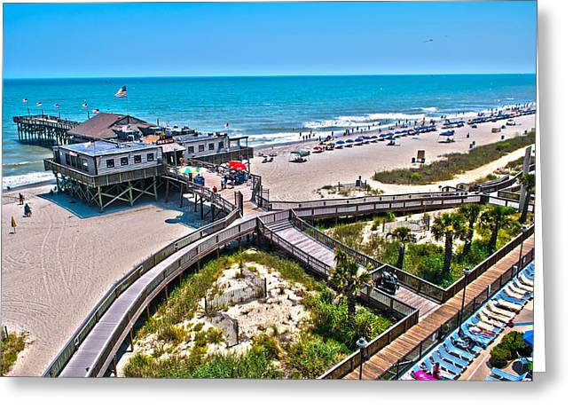 Greeting Card featuring the photograph Myrtle Beach South Carolina by Alex Grichenko