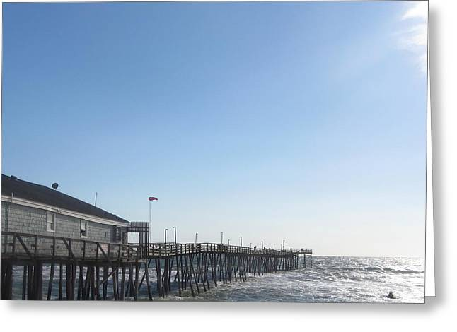 Greeting Card featuring the photograph Nags Head Pier by Cathy Lindsey