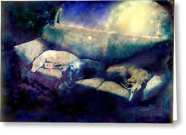 Nap Time Dreams Greeting Card by YoMamaBird Rhonda