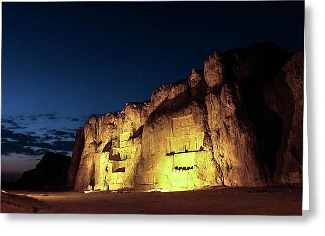 Naqsh-e Rustam Tombs Greeting Card