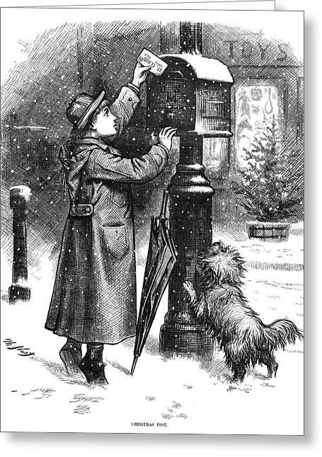 Nast Christmas, 1879 Greeting Card by Granger