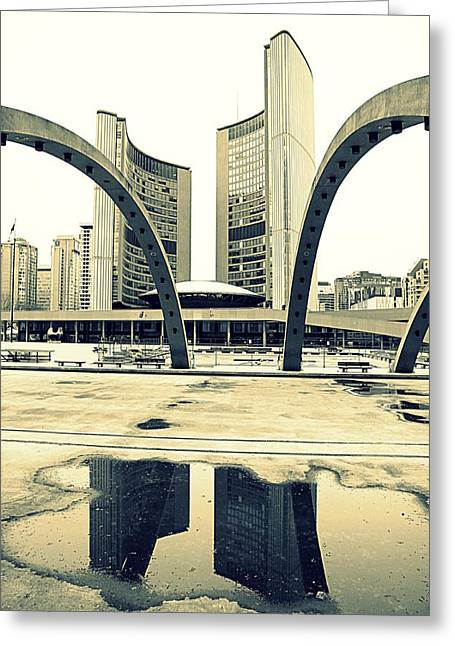 Nathan Phillips Square Greeting Card by Valentino Visentini