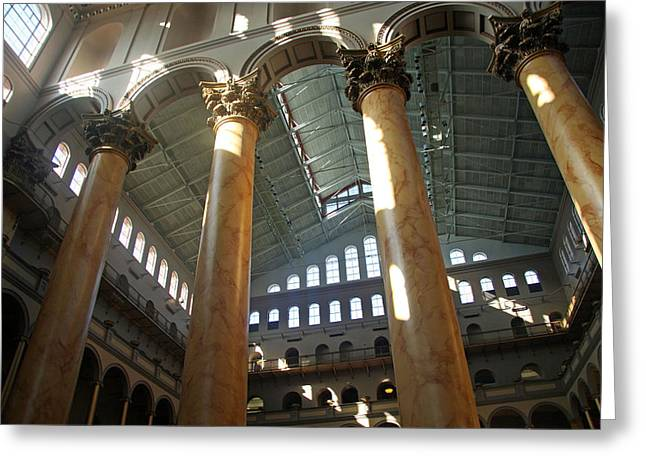 National Building Museum Greeting Card by Cora Wandel