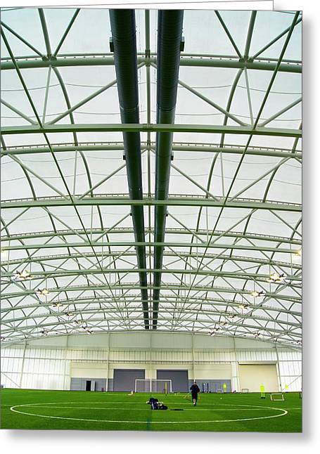 National Football Centre Greeting Card by Mark Williamson