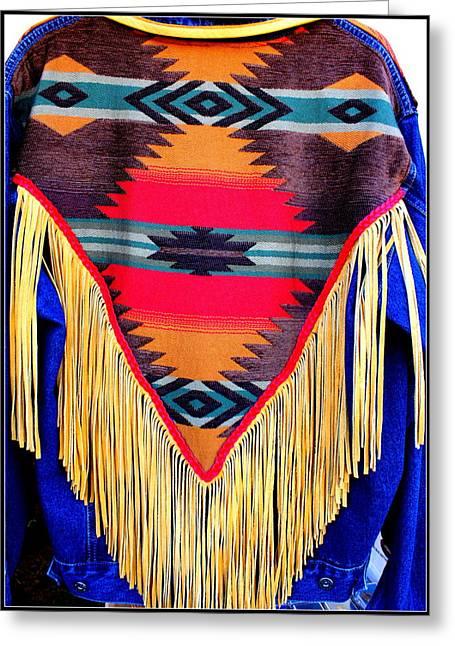 Native American Shawl  Greeting Card by Dora Sofia Caputo Photographic Art and Design