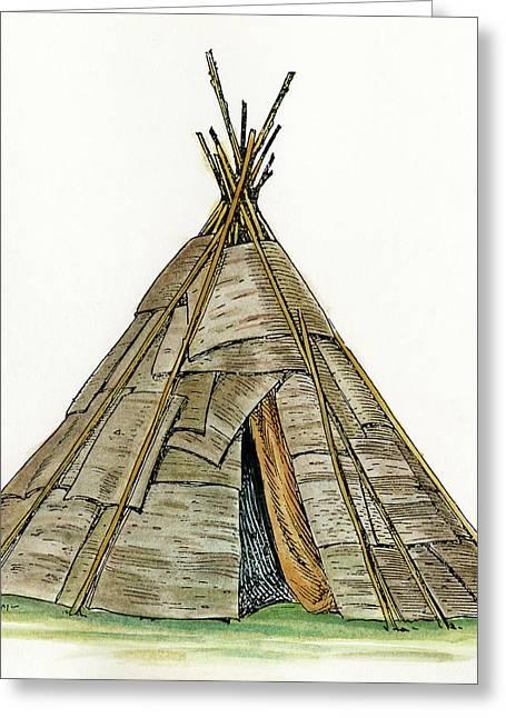 Native American Wigwam Greeting Card by Granger