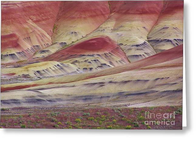 John Day Fossil Beds Painted Hills Greeting Card