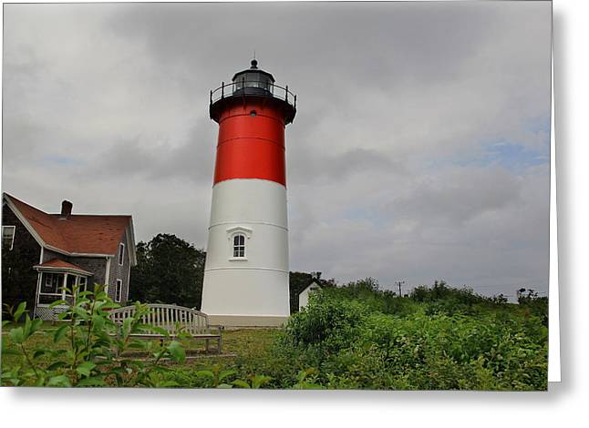 Nauset Lighthouse Greeting Card by Andrea Galiffi