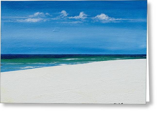 Navarre Beach Greeting Card by Paul Gaj