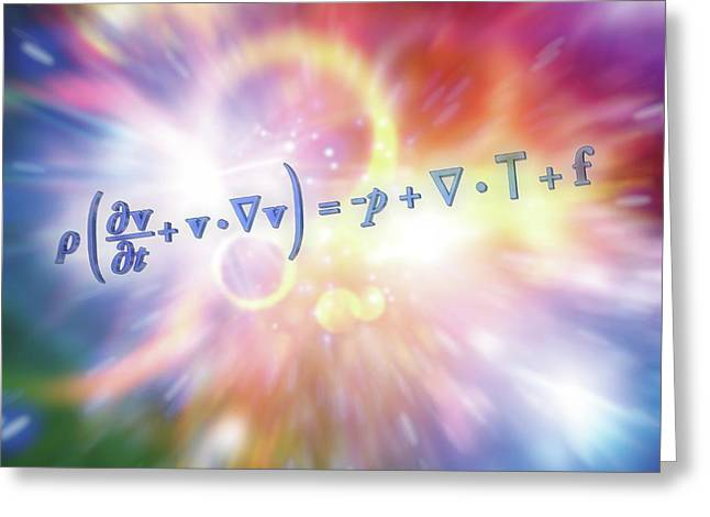 Navier-stokes Equation Greeting Card