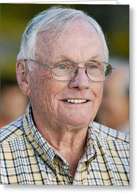 Neil Armstrong, Us Astronaut Greeting Card by Science Photo Library