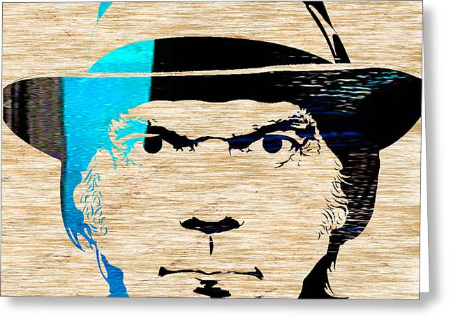 Neil Young Greeting Card by Marvin Blaine