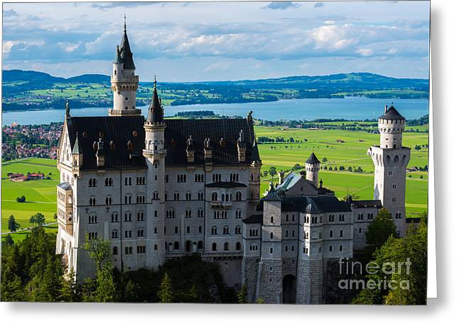 Neuschwanstein Castle - Bavaria - Germany Greeting Card