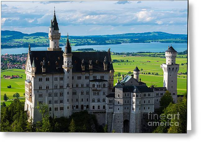 Neuschwanstein Castle - Bavaria - Germany Greeting Card by Gary Whitton