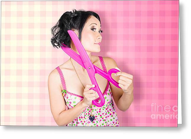 New Haircut At Beauty Salon Greeting Card by Jorgo Photography - Wall Art Gallery