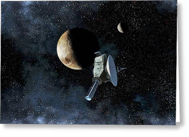 New Horizons At Closest Approach To Pluto Greeting Card by Take 27 Ltd