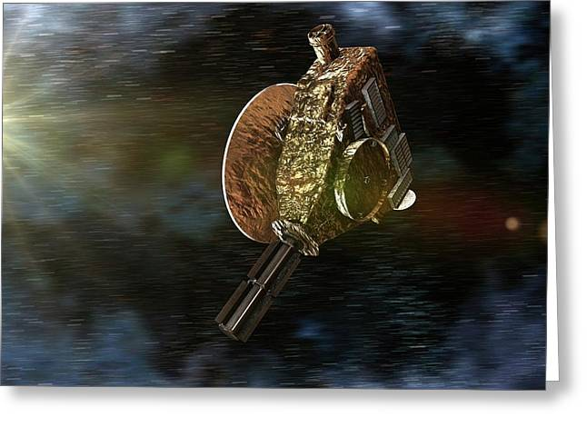 New Horizons Spacecraft Greeting Card by Take 27 Ltd