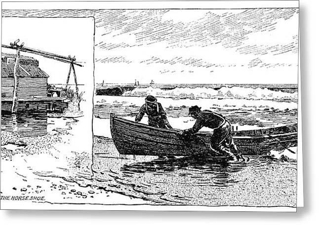 New Jersey Fishing Village Greeting Card