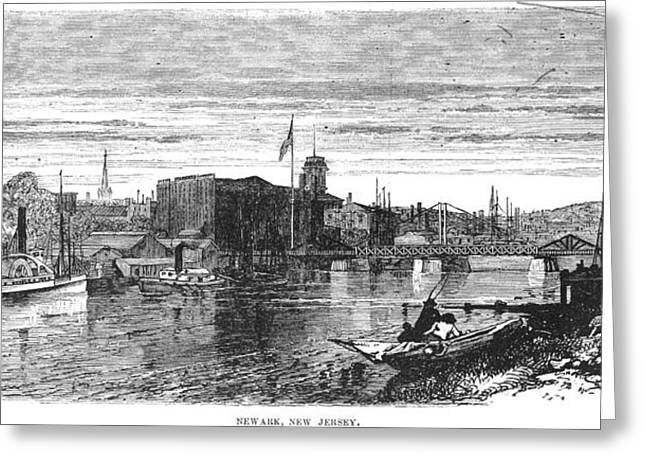 New Jersey Newark, 1876 Greeting Card by Granger