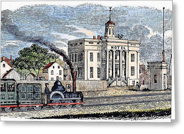 Greeting Card featuring the painting New Jersey Rahway, 1844 by Granger