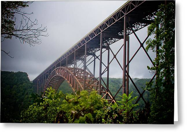 New River Bridge Greeting Card