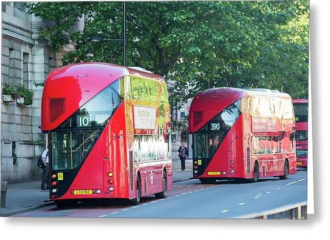 New Routemaster Bus Greeting Card by Ashley Cooper
