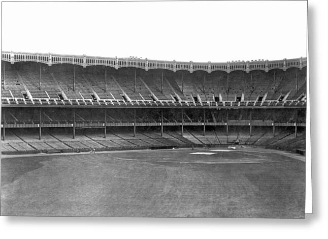New Yankee Stadium Greeting Card by Underwood Archives
