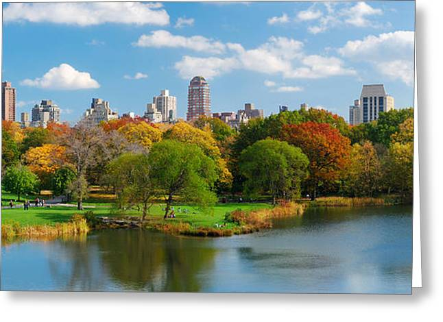 New York City Manhattan Central Park Panorama Greeting Card