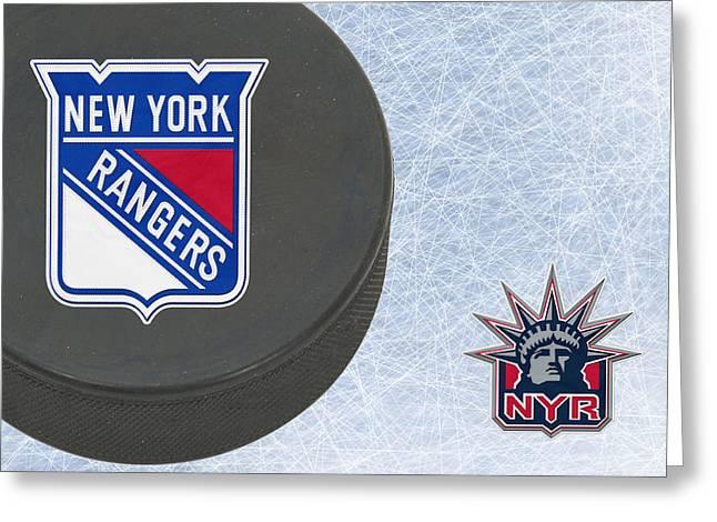 New York Rangers Greeting Card by Joe Hamilton
