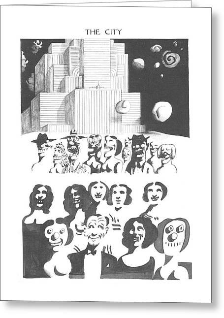 New Yorker February 24th, 1973 Greeting Card by Saul Steinberg