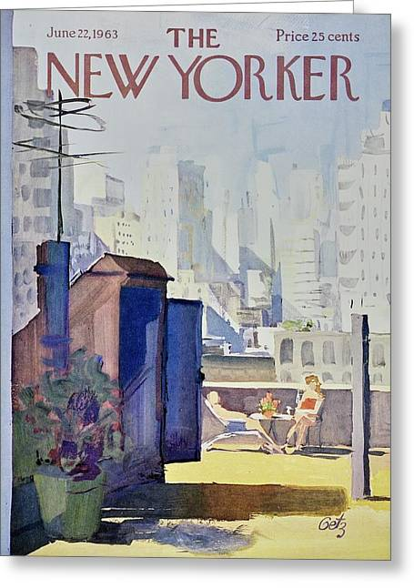 New Yorker June 22nd 1963 Greeting Card