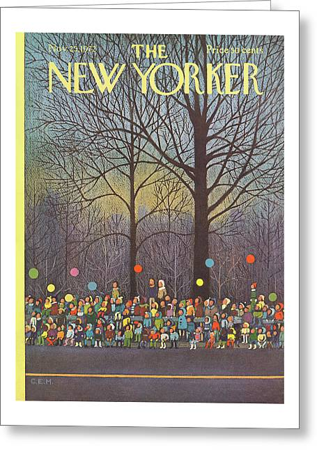 New Yorker November 25th, 1972 Greeting Card