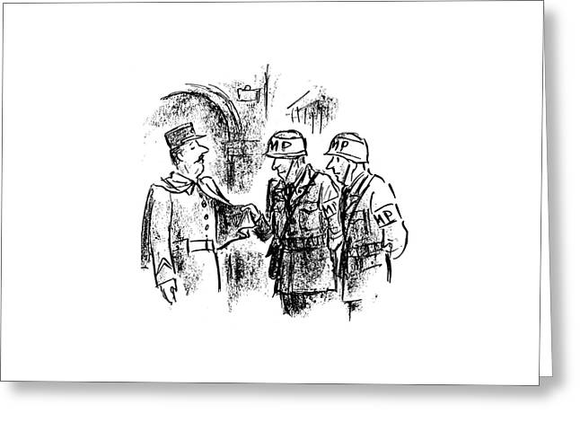 New Yorker October 28th, 1944 Greeting Card by Alan Dunn