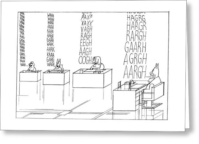 New Yorker September 19th, 1977 Greeting Card by Saul Steinberg
