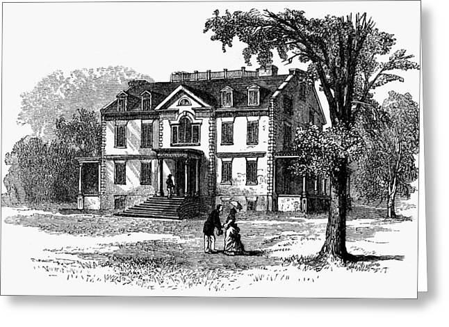 Newark Schuyler Mansion Greeting Card by Granger